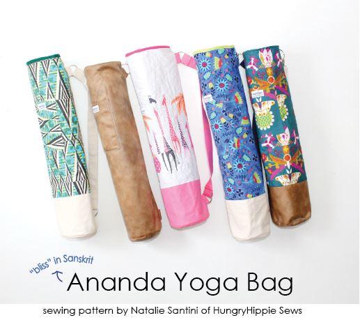sewhungryhippie: Ananda Yoga Bag Sewing pattern tutorial and PDF