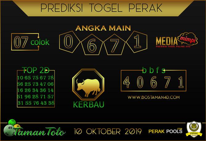 Prediksi Togel PERAK TAMAN TOTO 10 OKTOBER 2019