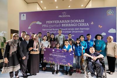 #kegiatan CSR Prudential Indonesia  #penyerahan donasi kepada yayasan onkologi anak Indonesia