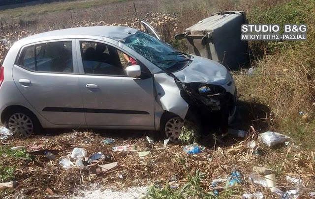 Αμάξι εξετράπη της πορείας του στην Νέα Κίο