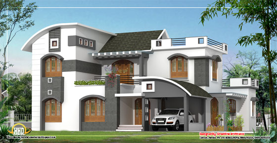 Modern contemporary home design - 264 Square meter (2840 Sq. Ft.)- February 2012