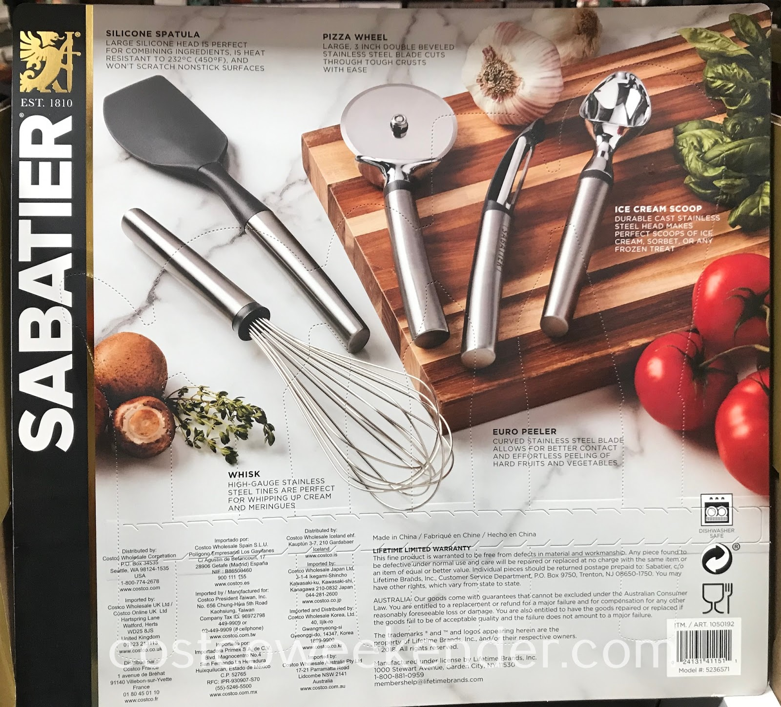 Costco 1050192 - Every kitchen will need the tools found in the Sabatier 5-piece Stainless Steel Gadget Set