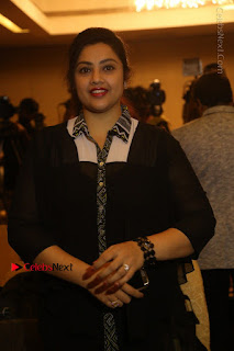 Tamil Actress Meena Latest Stills in Black Dress at TSR TV9 Awards Press Meet  0055.JPG