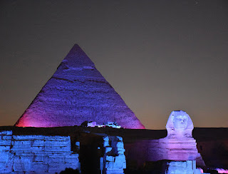 Giza Pyramids sound light show