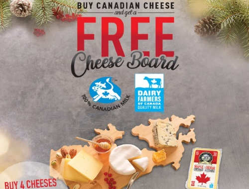 Dairy Farmers of Canada Free Cheese Board
