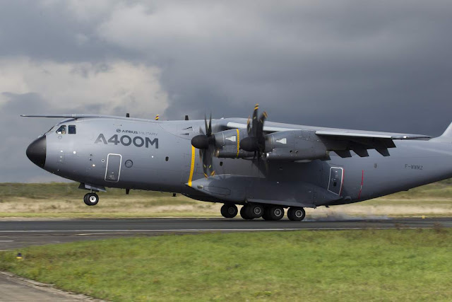 Airbus A400M Atlas Touching Down Runway