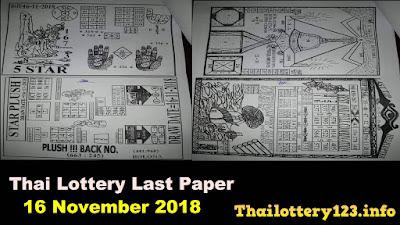 Thai Lottery Last Paper Full Magazine Tips 16 November 2018