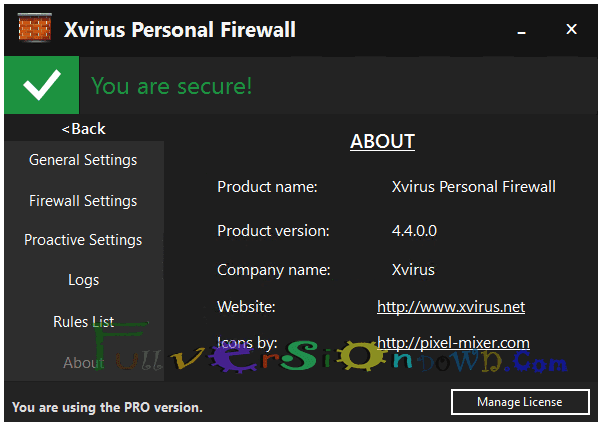 Xvirus Personal Firewall Pro Full Version