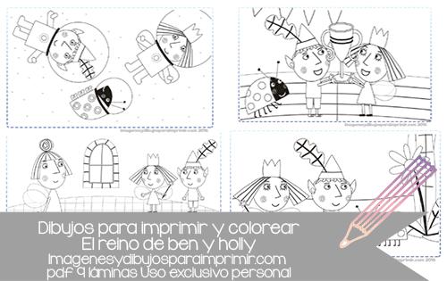 Dibujos de ben y holly para imprimir | Imagenes y dibujos para imprimir