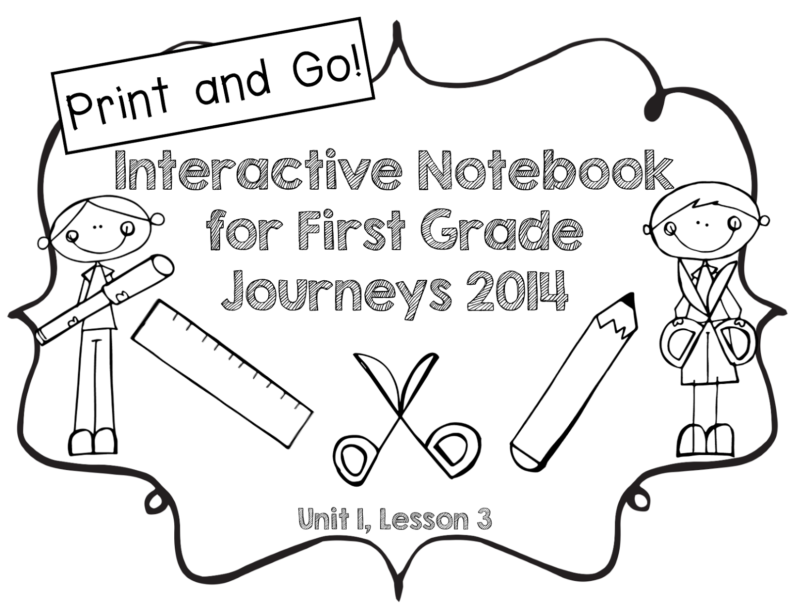 Journeys Interactive Notebooks for Lessons 1, 2, and 3