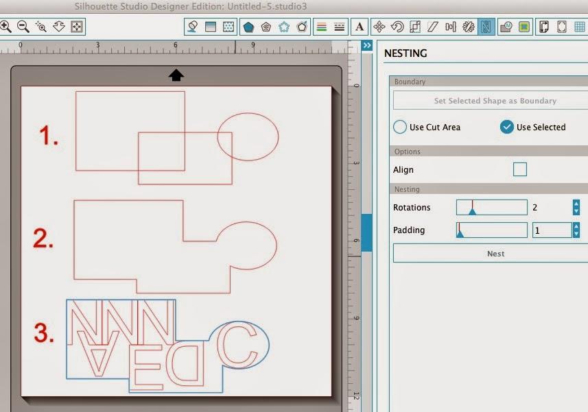 Silhouette Studio, Silhouette tutorial, nest, scrap vinyl, draw a square, draw a circle, weld