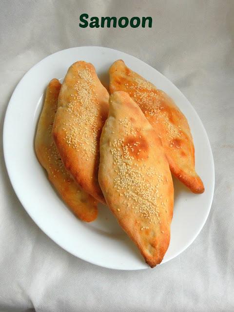 Iraqi Flatbread, Samoon, Eggless Samoon