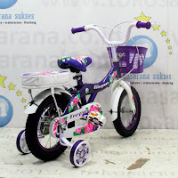 12 evergreen violet sepeda anak