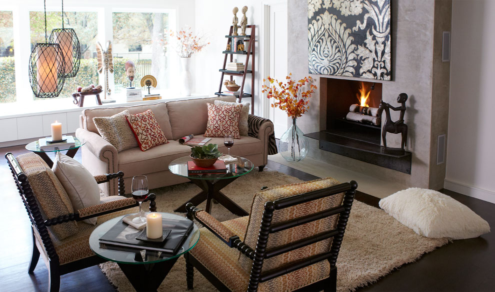 Living Room Design Inspiration And Decoration Ideas: Noteworthy Lady