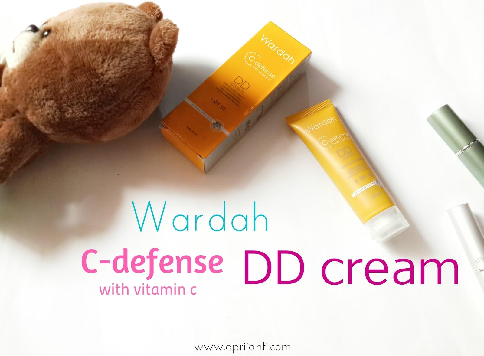 Review Wardah C-defence DD Cream (02 Natural) — APRIJANTI