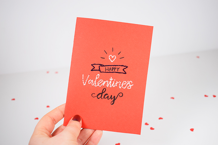 Carte de Saint Valentin à broder