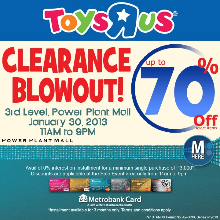 Manila Shopper Toys R Us Clearance Sale Rockwell Jan 2013