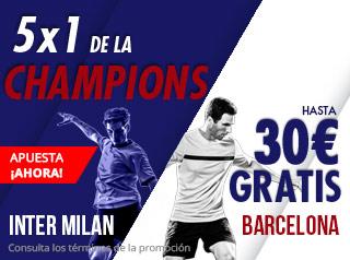 suertia promocion Inter vs Barcelona 6 noviembre