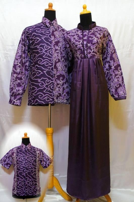 27+ Style Populer Sarimbit Gamis Batik Satin