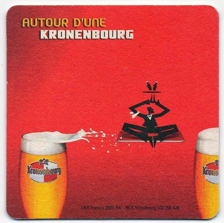 recto du sous-bock de la bière Kronenbourg