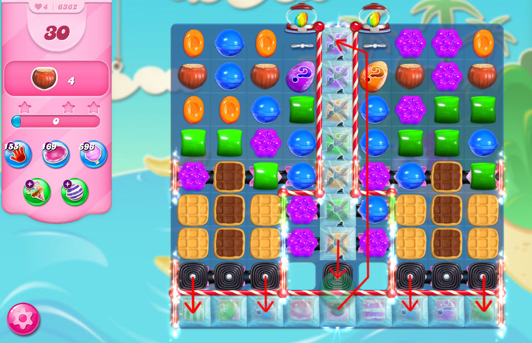Candy Crush Saga level 6362