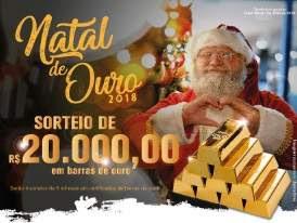 Promoção ACMC Mogi das Cruzes Natal 2018 De Ouro - 20 Mil Reais Barras de Ouro