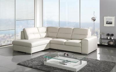 canapea - colțar extensibil acaju