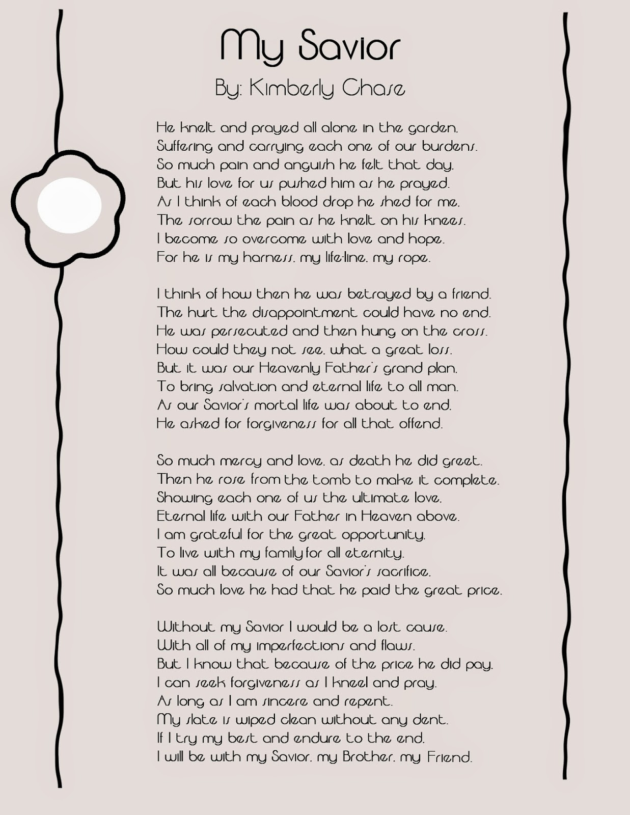Life S Journey To Perfection Easter Poem My Savior