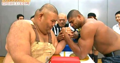 Arm championship midget pro sumo wrestling are mistaken