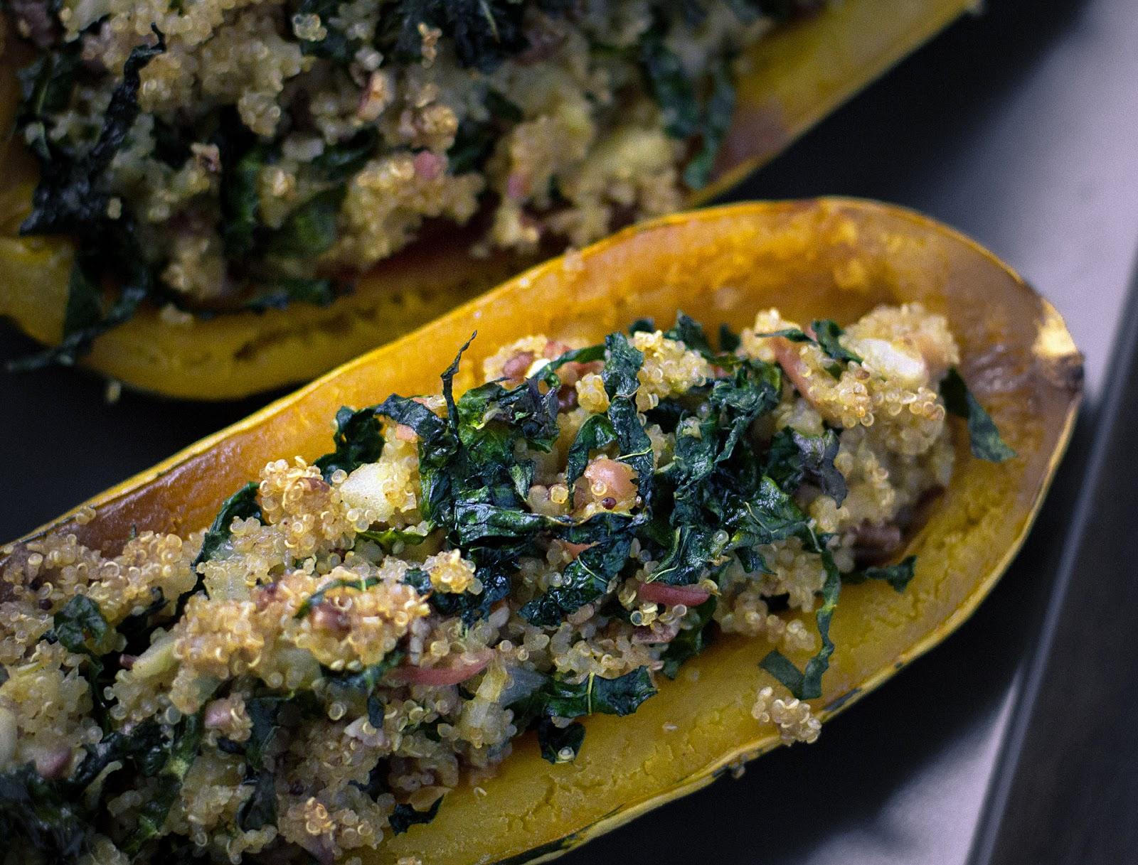 Quinoa, Apple and Kale Stuffed Delicata Squash | Local ...