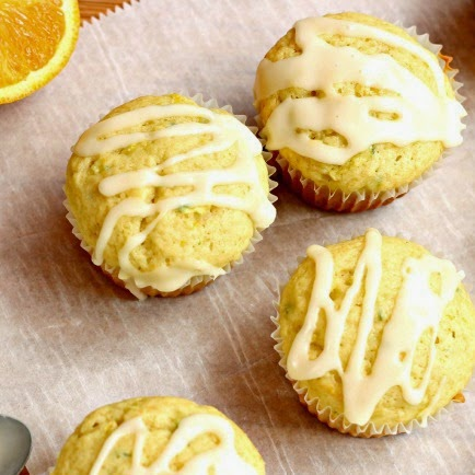 Glazed Orange Zucchini Muffins