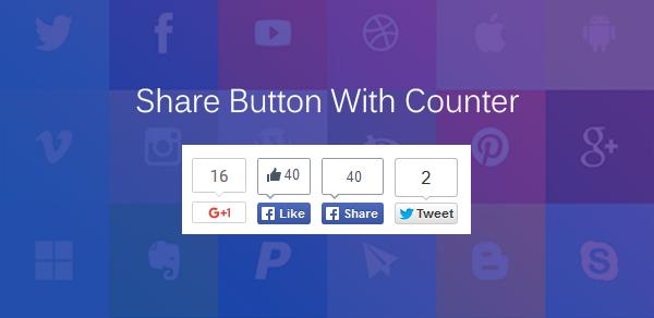 Membuat Tombol Social Share dengan Counter di Blog