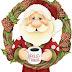 Santa and his Helpers Clip Art.