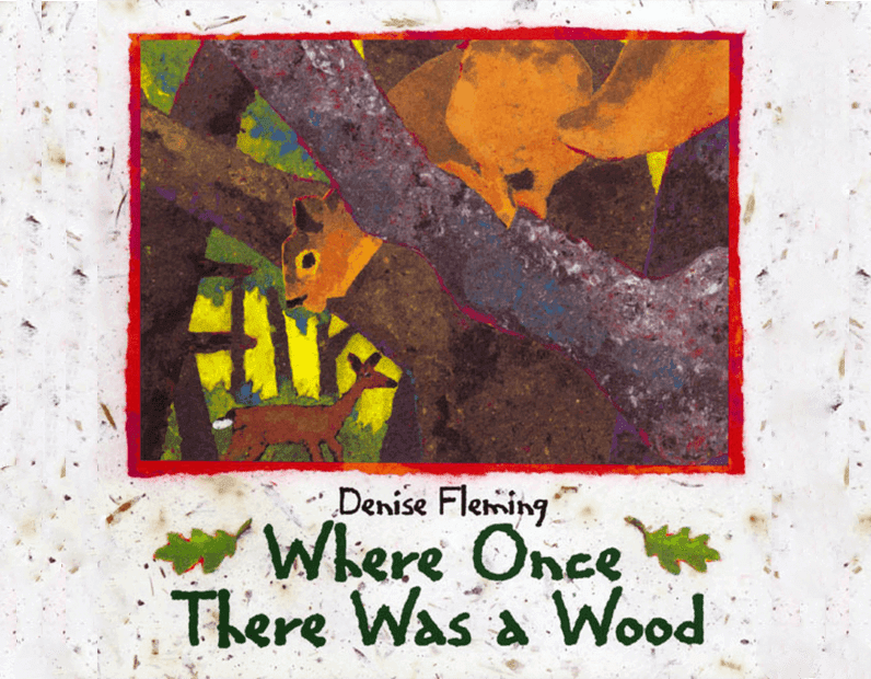 Where Once There Was a Wood picture book review. Includes actionable ideas, a link to a fall art lesson and two free habitat poems.