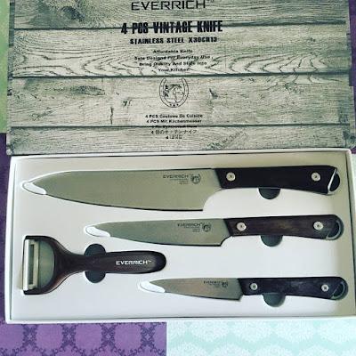 cuchillos de cocina, juego de cuchillos, everrich,