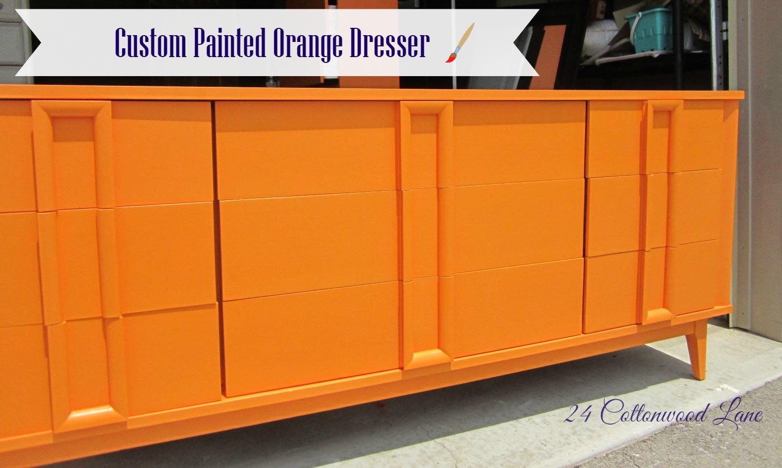 the groovy orange dresser - share