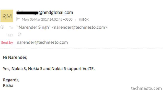 Nokia 6, 5 dan 3 Didukung Teknologi VoLTE