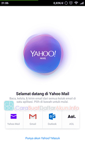 cara membuat alamat email yahoo lewat hp