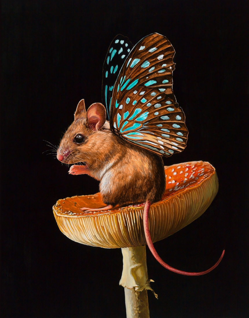 07-Throne-Lisa-Ericson-Mouserflies-and-Friends-Paintings-X-Men-Among-Animals-www-designstack-co
