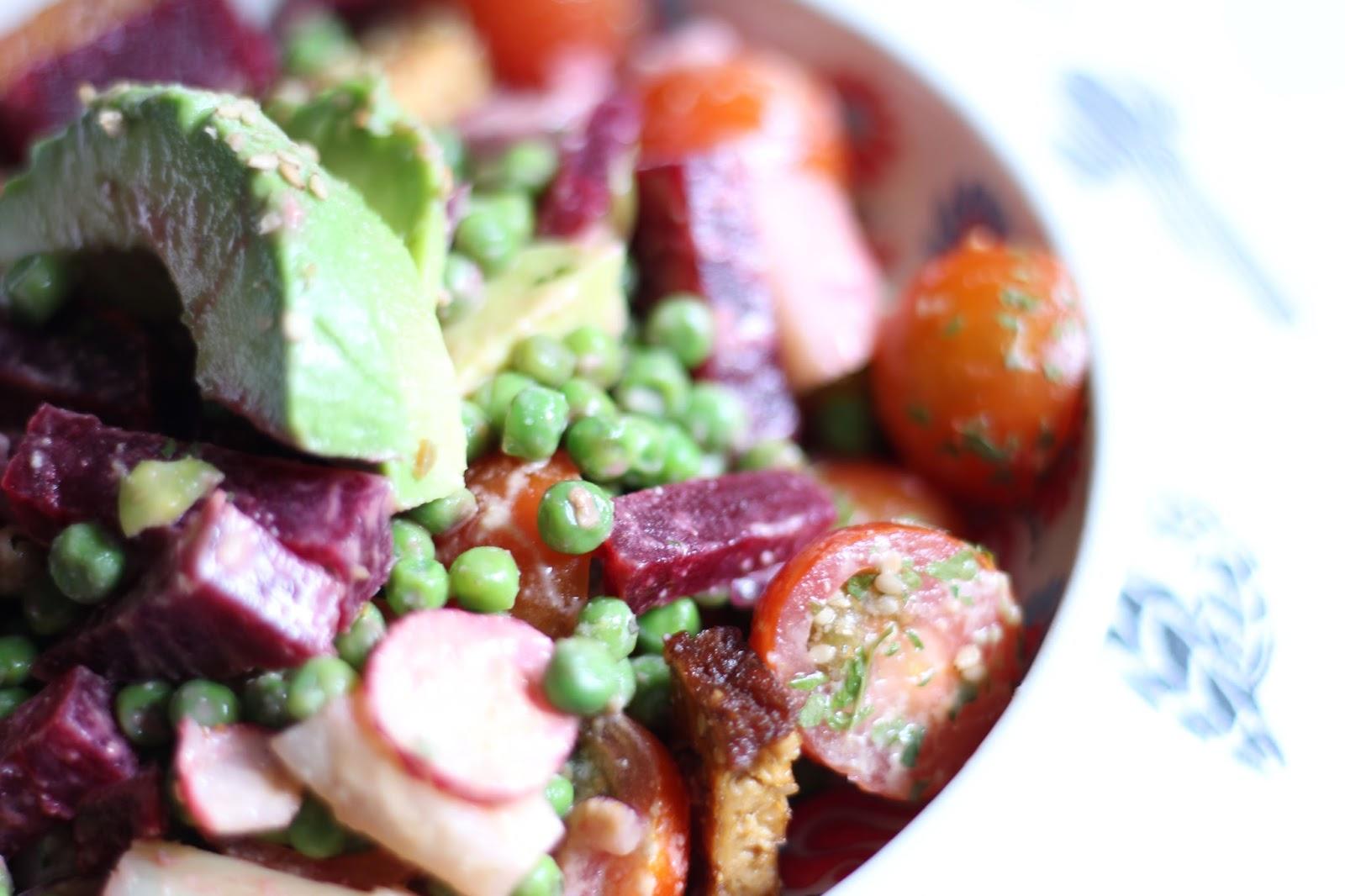 salade vegan printemps