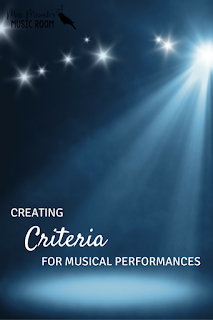 Creating criteria for musical performances: Great ideas for the elementary music classroom!