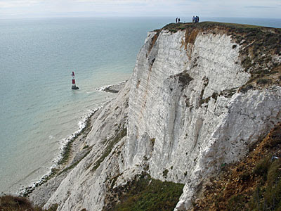 View from the clifftop at Beachy Head