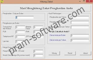 ScreenShot Kalkulator Hitung Zakat