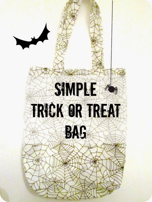 DIY Treat Bag, DIY Halloween Bag, Spider Bag