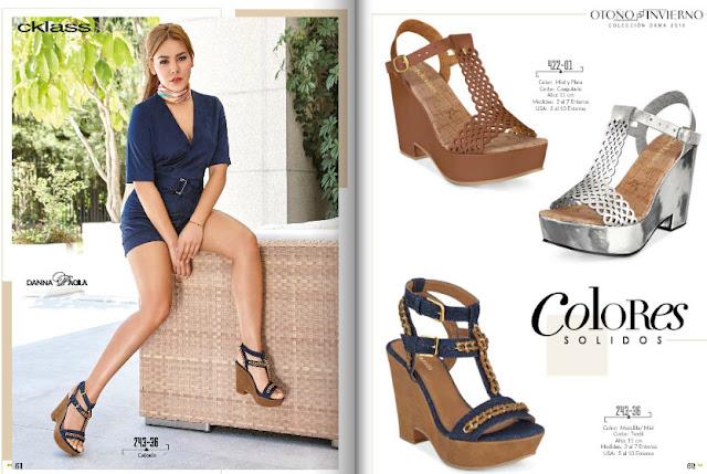 zapatos de colores solidos