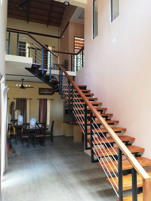 Finished House With Its 3d Rendering View Kerala Home Design And Floor Plans