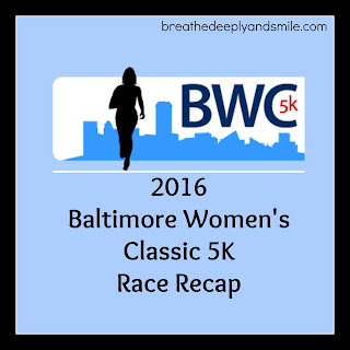 Baltimore Women's Classic 5K Race Recap 2016