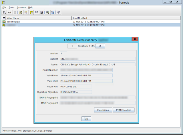 The OptionKey Blog: Adding Let's Encrypt TLS Certificate to