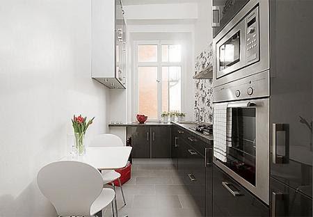 Marzua decorar una cocina estrecha for Amueblar cocina alargada