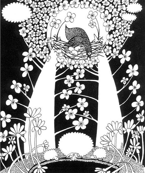 Yury Poberezhny black and white drawing